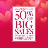 Vente de Saint-Valentin Image libre de droits