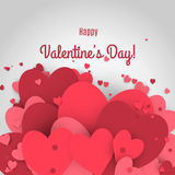 Vente de Saint-Valentin Lettres avec le fond et la réflexion de valentine de coeurs Image libre de droits