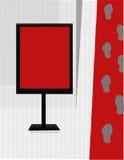 Vente de tapis rouge Photographie stock libre de droits