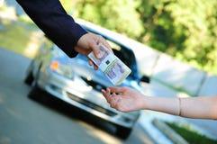 Vente de véhicule Images libres de droits