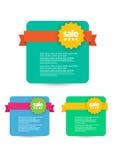 Vente de Web, remise, offre, insigne d'affaire, en-tête, label, étiquette ou bannière Images libres de droits