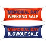 Vente de week-end de Memorial Day Image stock