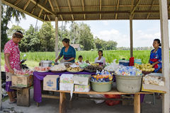 Vente des aliments de préparation rapide dans Bali Photo stock