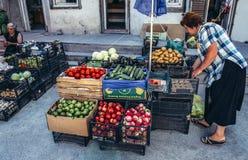Vente des FO de légumes Photographie stock libre de droits