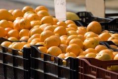Vente des oranges Photographie stock libre de droits