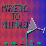 Vente des textes d'écriture à Millenials La signification de concept soit Internet socialement relié intuitif et reste le cocktai illustration stock