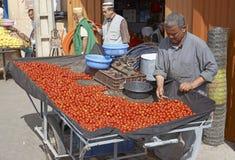 Vente des tomates Photos stock