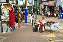 Vente des ustensiles et des jouets de cuisine à Lima, le Pérou Photographie stock libre de droits
