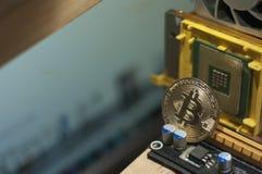Vente du bitcoin sur le marché boursier image stock