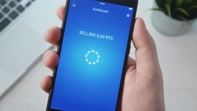 Vente du bitcoin utilisant le smartphone APP clips vidéos
