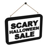 Vente effrayante de Halloween Images libres de droits