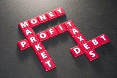Vente et économie Photo stock