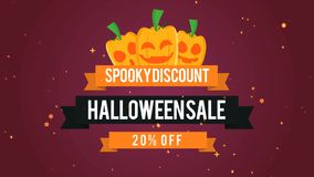 Vente fantasmagorique 20 de Halloween de remise outre de fond de longueur banque de vidéos