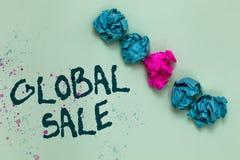 Vente globale des textes d'écriture de Word Le concept d'affaires pour des opérations de directeurs pour des sociétés font des af photographie stock