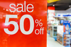 Vente 50% hors fonction Image libre de droits