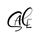 Vente Inscription de lettrage de main Texte manuscrit de vecteur Calligraphie moderne Photographie stock
