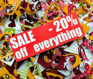 Vente jusqu'à 20 pour cent Image stock