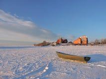 Vente-Kap im Winter, Litauen Stockfotos