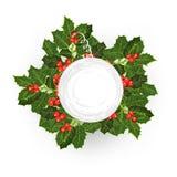 Vente L'arbre de houx Fond de Noël heureux ! Photographie stock