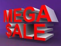 Vente méga Photo stock