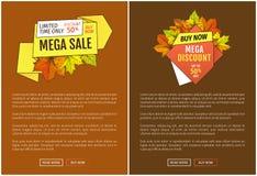 Vente méga Autumn Half Price Advertising Poster illustration stock
