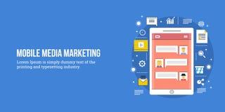 Vente mobile - commercialisation numérique de media Images libres de droits