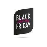Vente noire de vendredi Dernière vente de jour étiquette Vecteur illustration de vecteur