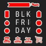 Vente noire de vendredi Flip Clock Letters analogue Un ensemble illustration stock