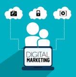 Vente ou marketing en ligne de Digital Photo libre de droits