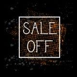 Vente outre de conception grunge de bannière de remise de Black Friday d'éclaboussure de peinture de fond d'affiche Image libre de droits