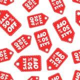 Vente 50% outre de fond sans couture de modèle d'étiquette de coup Affaires plates Images libres de droits