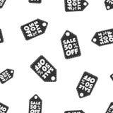 Vente 50% outre de fond sans couture de modèle d'étiquette de coup Affaires plates Image stock