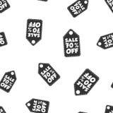 Vente 70% outre de fond sans couture de modèle d'étiquette de coup Affaires plates Illustration Stock