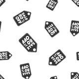 Vente 80% outre de fond sans couture de modèle d'étiquette de coup Affaires plates illustration libre de droits