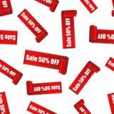 Vente 50% outre de fond sans couture de modèle d'autocollant Affaires plates Photos libres de droits