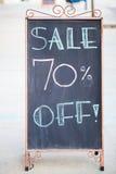Vente 70 % outre de signe Photographie stock libre de droits