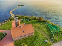 Vente przylądek w Lithuania, ptasi dzwonienia miejsce fotografia royalty free