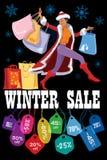 Vente saisonnière d'hiver Image libre de droits