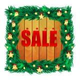 Vente saisonnière de Noël Photo stock
