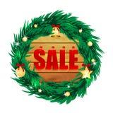 Vente saisonnière de Noël Image stock