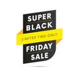 Vente superbe de Black Friday Style jaune Temps limité seulement Vecteur illustration de vecteur
