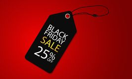 Vente superbe noire de vendredi sur la bannière simple et de luxe d'illustration de vecteur de calibre d'étiquette illustration stock