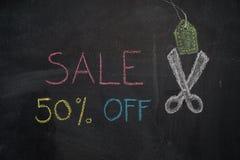 Vente 50% sur le tableau Photo stock