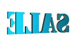 vente tournante de lettres des textes 3D Inscription pour des affiches de mouvement, banni?res Disponible dans l'enregistrement v illustration libre de droits