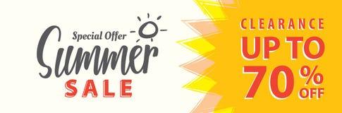 Vente V réglé d'été conception de titre de 5 70 pour cent pour la bannière ou le courrier Illustration de Vecteur