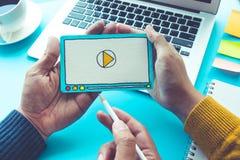 Vente virale, media social, concepts de marketing en ligne Images stock