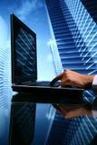 ventes d'agent immobilier de cyber photographie stock