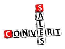 ventes de converti des mots croisé 3D sur le fond blanc Photo libre de droits