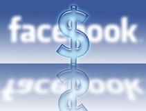 Ventes de $ du dollar de logo de Facebook Photos libres de droits