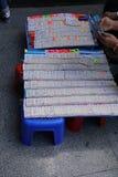 Ventes de loterie en Thaïlande Images libres de droits
